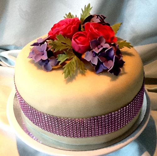 Glitter en glamour-taart